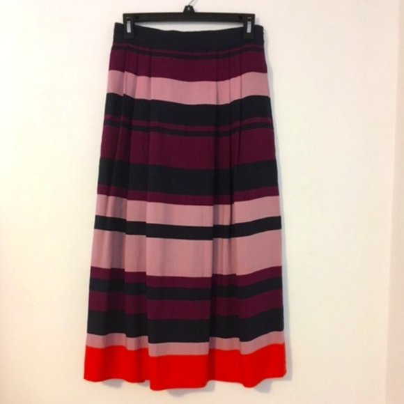 Ann Taylor Striped Midi Skirt